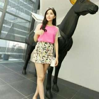 Pink Chiffon Shirt With Translucent Sleeve