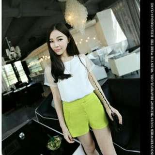 White Chiffon Shirt With Translucent Sleeves