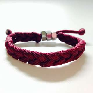 Maroon Basic Braid Parachute Cord Bracelet