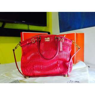 Trade Red Coach Ladies Large Handbag