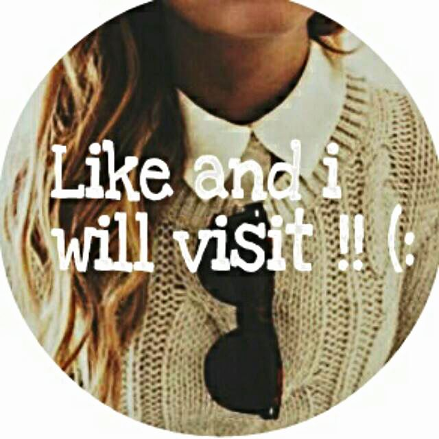 LIKE and I'll visit and FOLLOW!!!