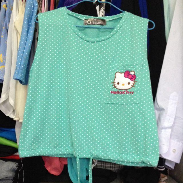 89512f4b4 Mint Green Hello Kitty Top, Women's Fashion on Carousell