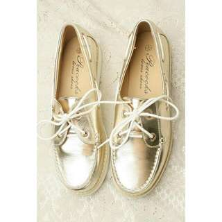 Gold Boat Shoes