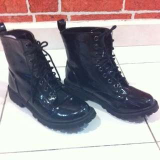 H&M Lace-up Army Style Boots