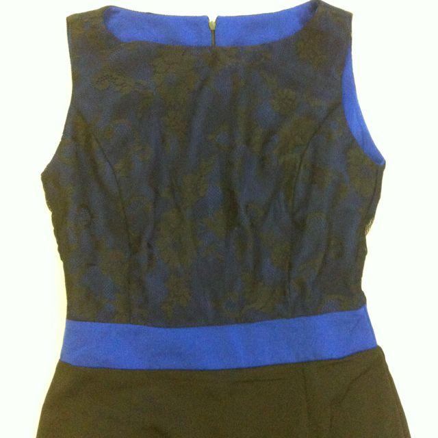 Brand New Black/ Blue Lace Dress