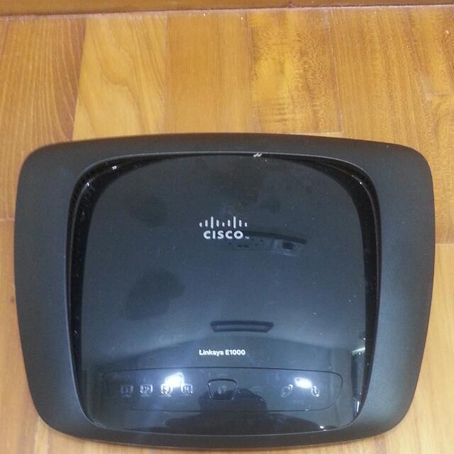 Cisco Wi-Fi N/G/B Router E1000