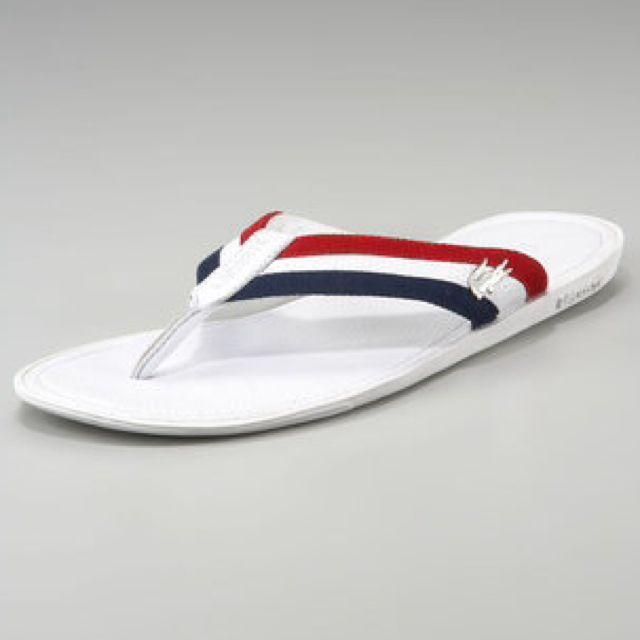 3601d575ac4181 Lacoste Carros Striped Flip-Flop