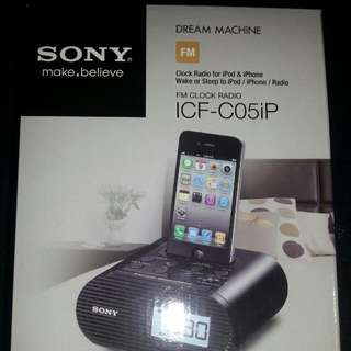 SONY Clock Radio For iPod & iPhone