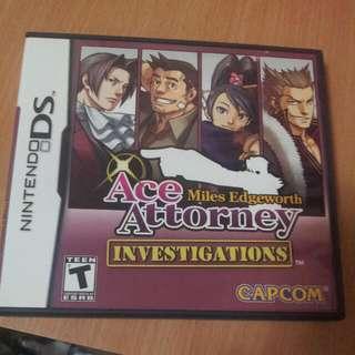 Nintendo DS Ace Attorney Miles Edgeworth Investigations