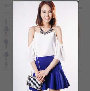 Tcl Bliss Flutter Sleeve Top In Off White