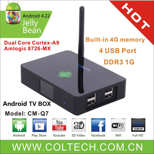 CYNMATE Dual Core Android 4 1 Smart TV Box (CM-Q7)