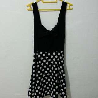 Ribbon Polka Dot Dress