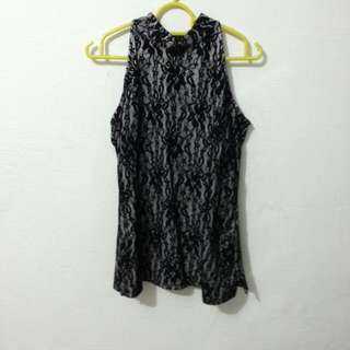 Black Lace Top From Purpur