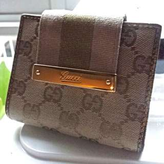 Gucci Pink & Gold Buckle Wallet
