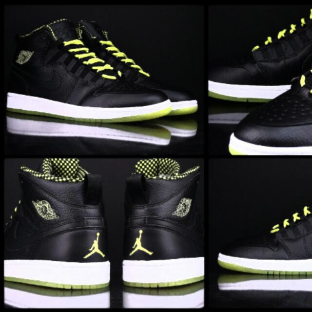 Men s Nike Air Jordan 1 Retro  94 - Venom Green - Black b74d6860c