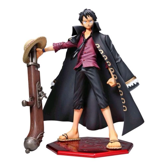 One Piece PVC Figure - NEO P.O.P. Portrait of Pirates Monkey D. Luffy 'Strong World Movie' 1/8