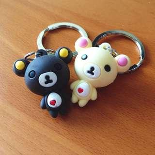 Couple Rilakkuma Keychains