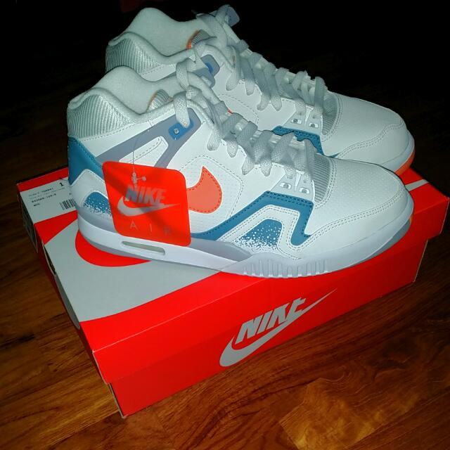 Brand New Nike Air Tech Challenge Ii 2 Retro Qs Agassi Trainer Hot Lava Clay Blue 2014 Sports On Carousell