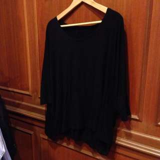 Brand New Slouchy Oversized Black Top