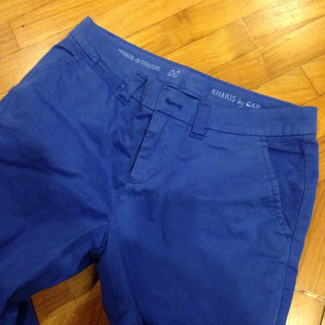 Gap Khakis In Bright Blue