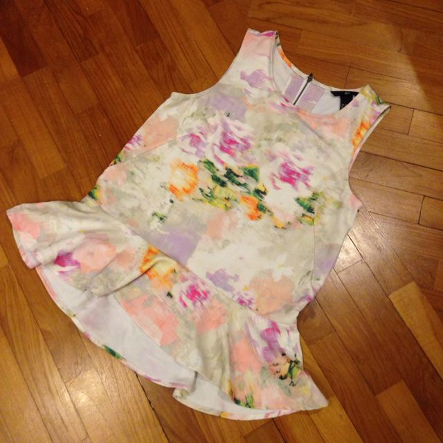 H&M Watercolor Peplum