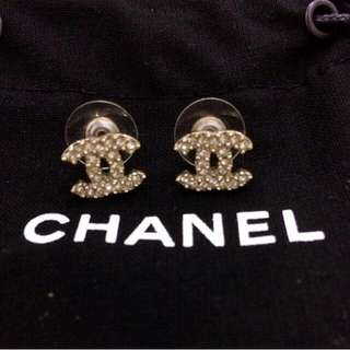 Classic Chanel Earring!  Description: Gold based w v pretty diamonds on it!  Condition: 10/10 Brand new ( Selling as it's a gift!)  Retailing: $380  Selling: $300 firm   Includes box and dustbag!   Please PM me for more details and closeup pictures!