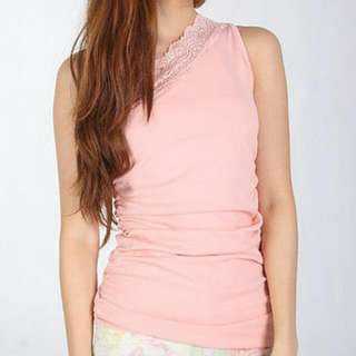 Agneselle Toga Lace Top in Pink
