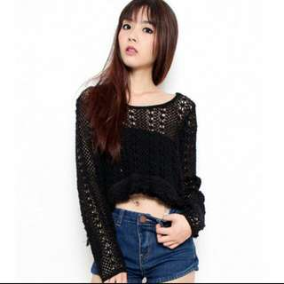 Knitted Crochet Top ♡