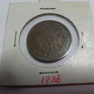1936 One Quarter Anna