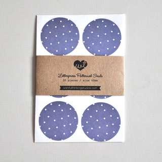 Blue - Letterpress Printed Pattern Seal (30pcs)