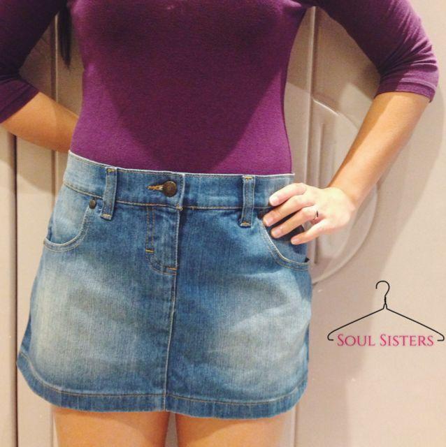 41cc93116a NEW Kookai Jeans Denim Mini Skirt