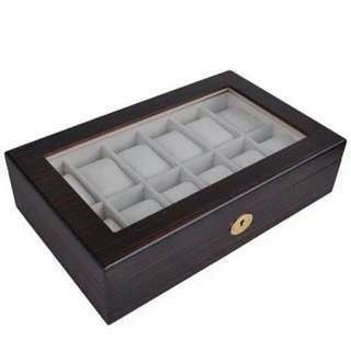 High Quality 12 Slot Wooden Watch Box
