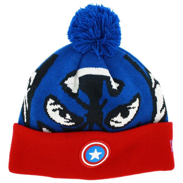 4fa5b515a New Era Captain America Beanie / Big Knittie Hat