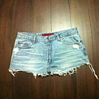 Washed Out Ripped Shorts