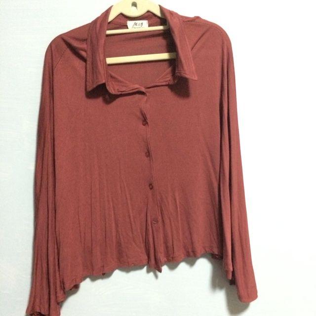 Flowy Red Long Sleeve Shirt