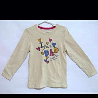 BN Osh Kosh Girl Cotton Long Sleeve With Wordings