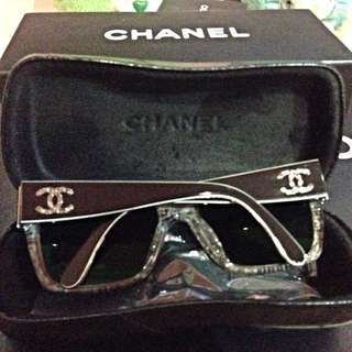 REDUCED!! Chanel Square Tortoiseshell Sunglasses With Silver CC