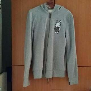 Grey Striped Bunny Reversible Jacket