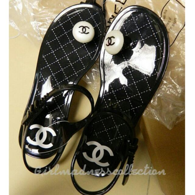 51e553c43970 NEW CHANEL INSPIRED JELLY SANDALS!