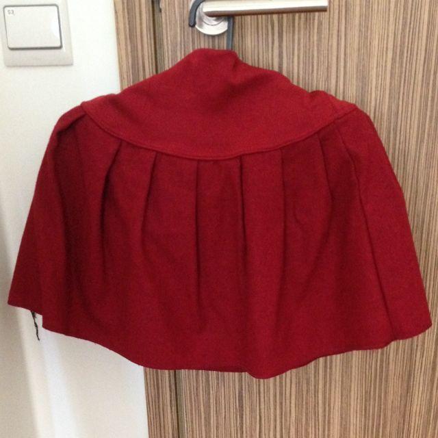 23376fae2 Deep Red Skater Skirt Short Pleats, Women's Fashion on Carousell