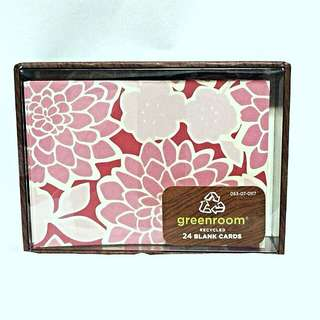 24 Pink Floral Blank Cards