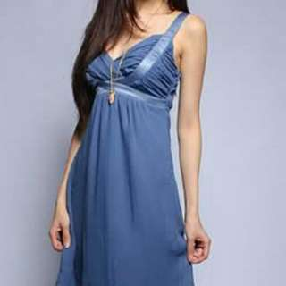 Agneselle Grecian Dress In Blue