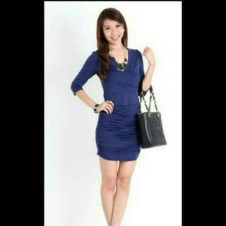 Ohvola Chantel Dress In Navy