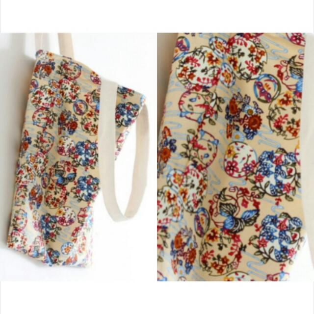 Colorful Floral Tote Bag / BX0025