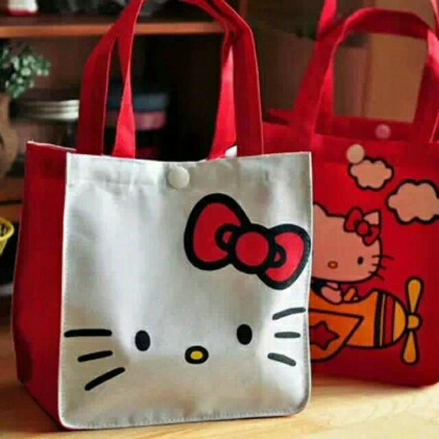 c3053e1ea Hello kitty KT cat hand carry rice bags canvas reusable shopping ...