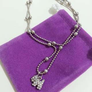Korean Anklet With Diamond Terrier Charm