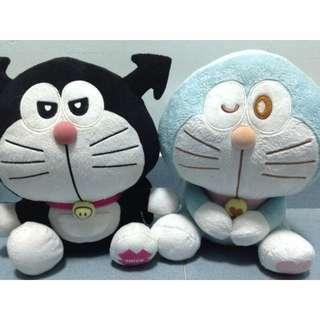 Rare Doreamon Plush Toy - Trick & Love Dora Set