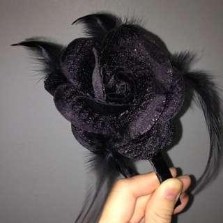 Black Headband (Rose 1)