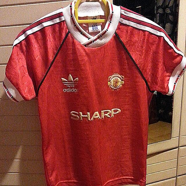 the best attitude 284e2 e39cb Vintage 1990 Manchester United Jersey