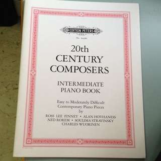 20th Century Composers- Intermediate Piano Book (edition PETERS) No. 54199